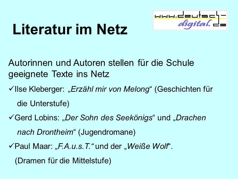 """Literatur im NetzAutorinnen und Autoren stellen für die Schule geeignete Texte ins Netz. Ilse Kleberger: """"Erzähl mir von Melong (Geschichten für."""