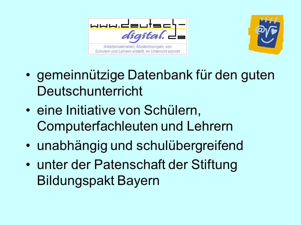 gemeinnützige Datenbank für den guten Deutschunterricht