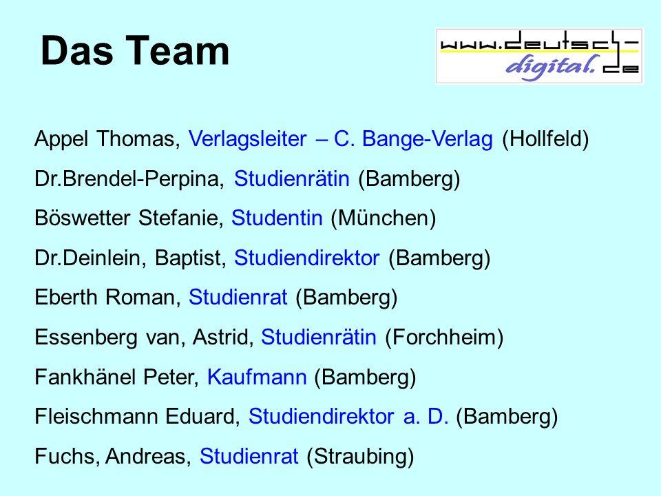 Das Team Appel Thomas, Verlagsleiter – C. Bange-Verlag (Hollfeld)