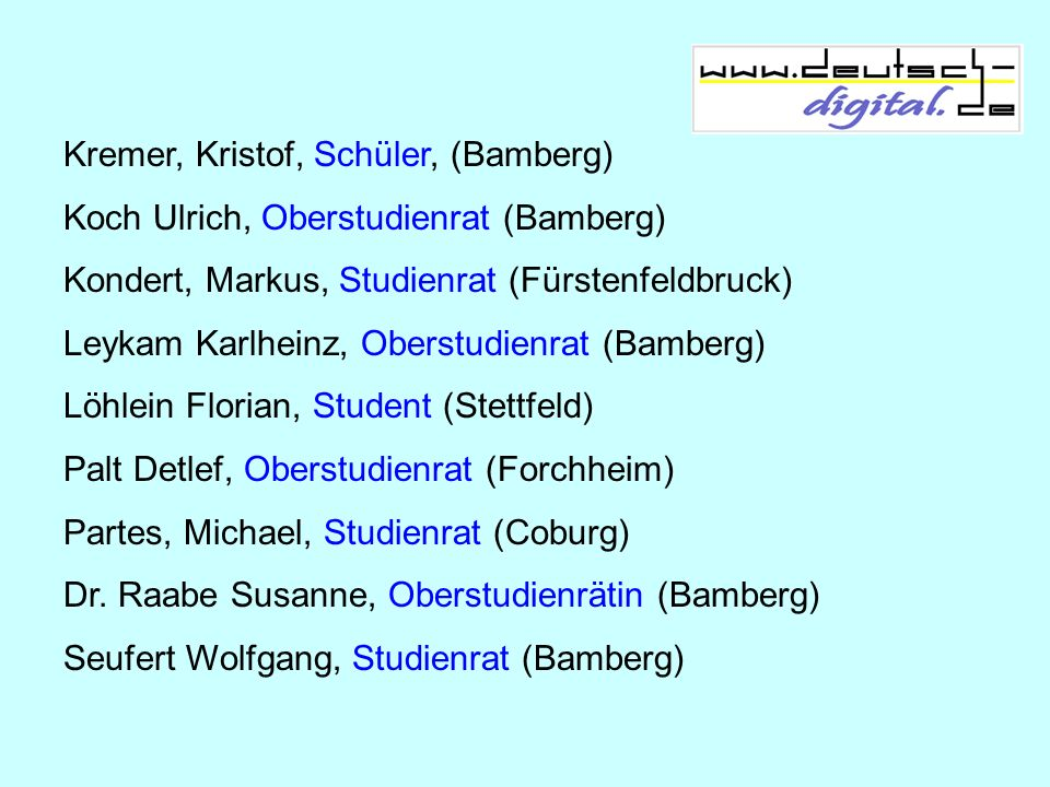 Kremer, Kristof, Schüler, (Bamberg)
