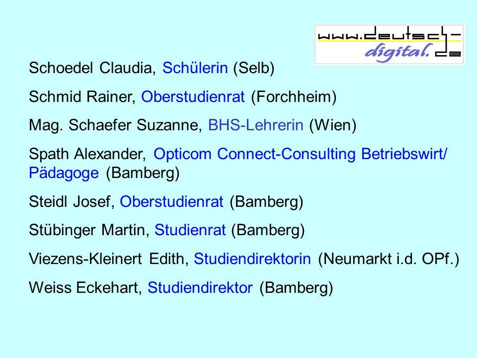 Schoedel Claudia, Schülerin (Selb)