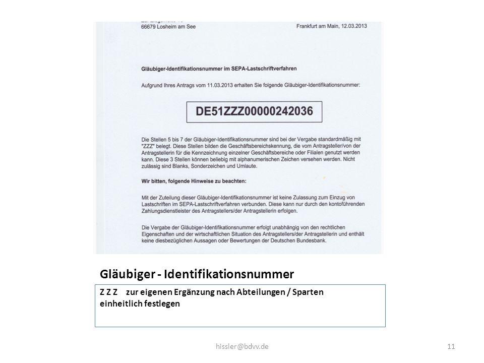 Gläubiger - Identifikationsnummer