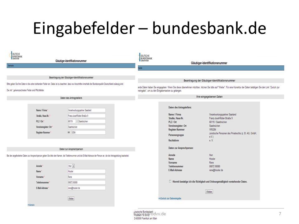 Eingabefelder – bundesbank.de