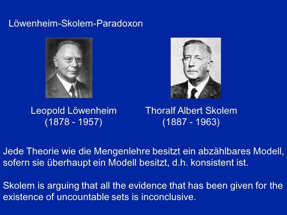 Löwenheim-Skolem-Paradoxon