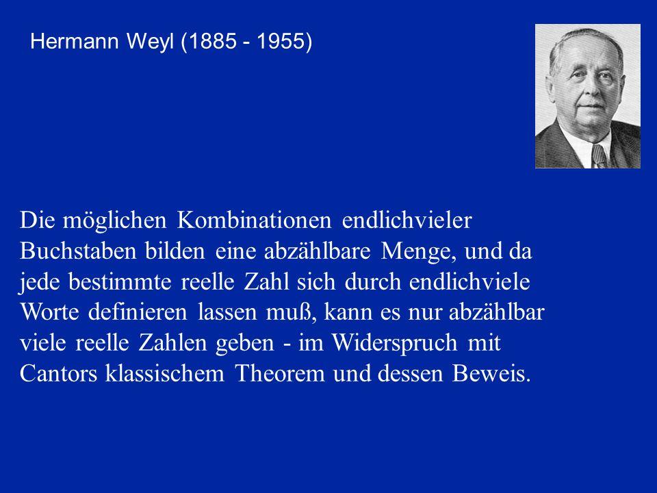 Hermann Weyl (1885 - 1955)