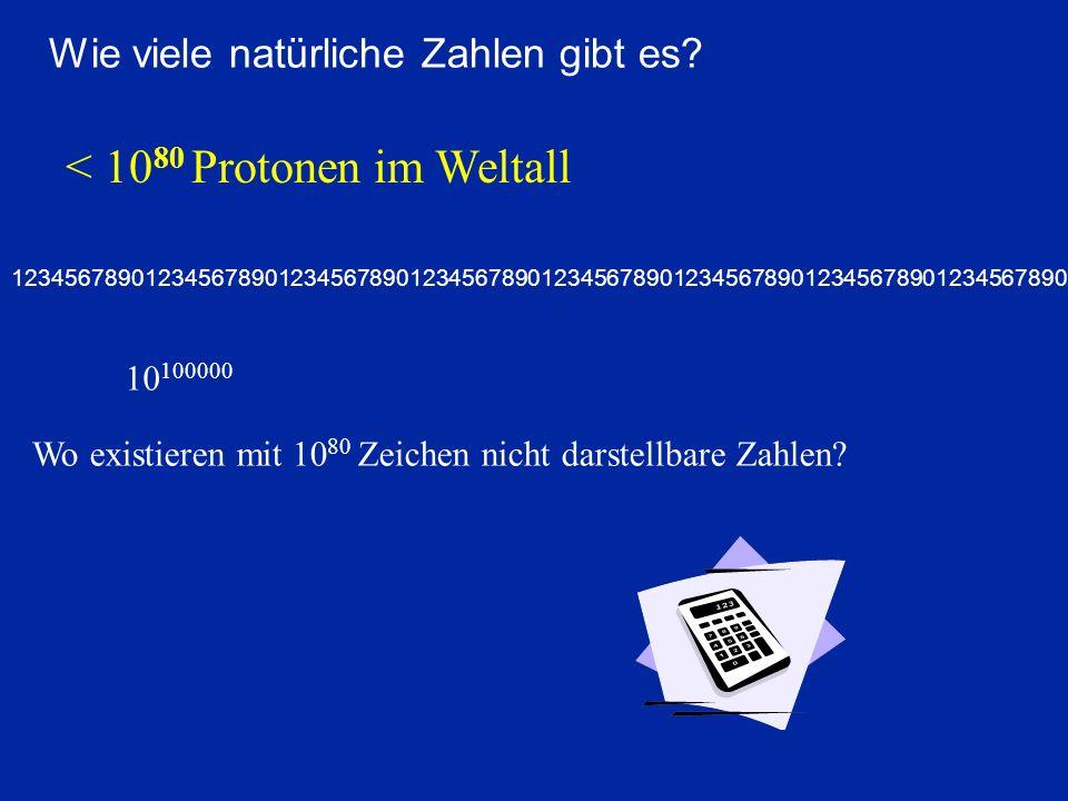 < 1080 Protonen im Weltall