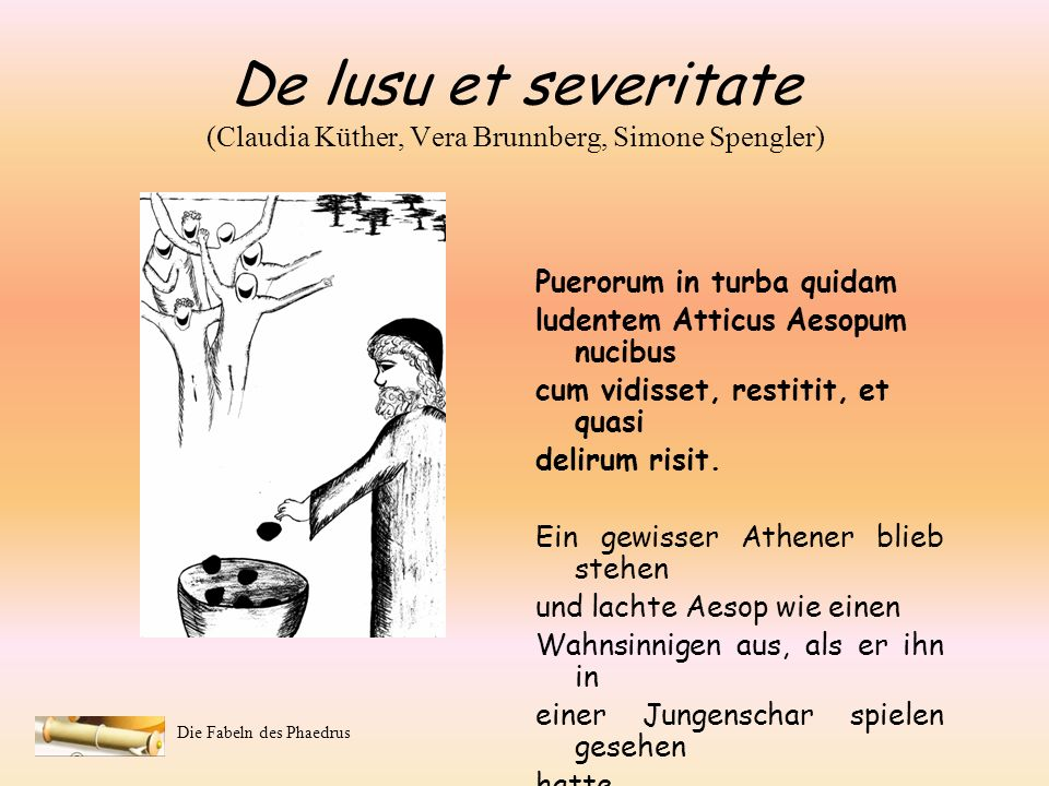De lusu et severitate (Claudia Küther, Vera Brunnberg, Simone Spengler)