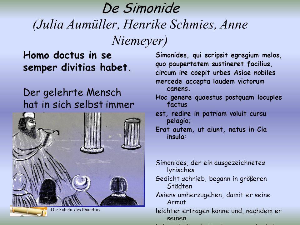 De Simonide (Julia Aumüller, Henrike Schmies, Anne Niemeyer)