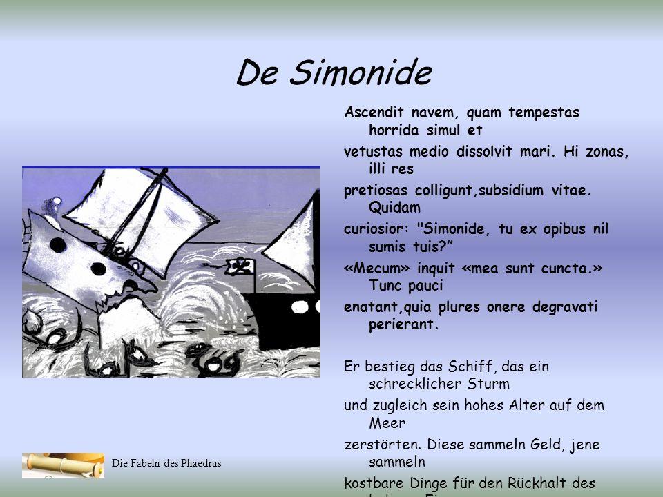De Simonide Ascendit navem, quam tempestas horrida simul et
