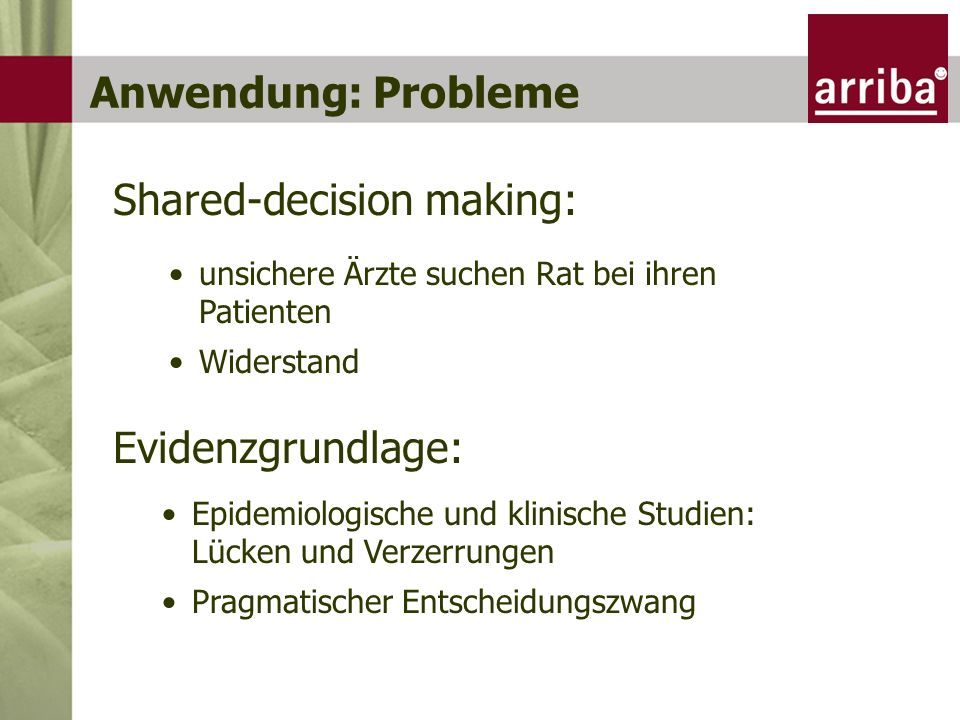 Shared-decision making:
