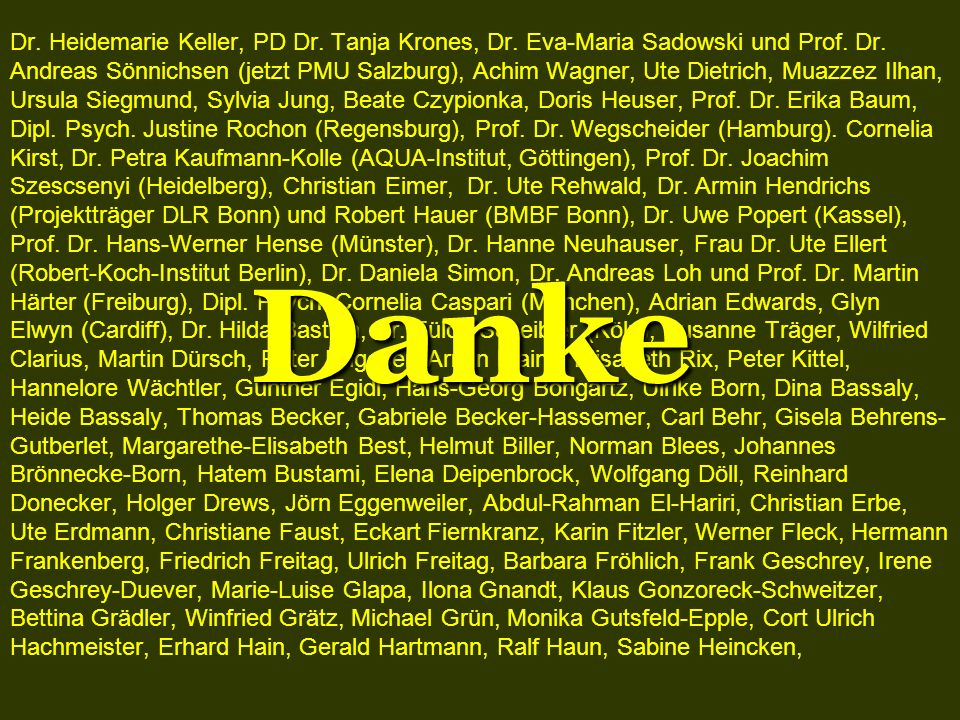 Dr. Heidemarie Keller, PD Dr. Tanja Krones, Dr
