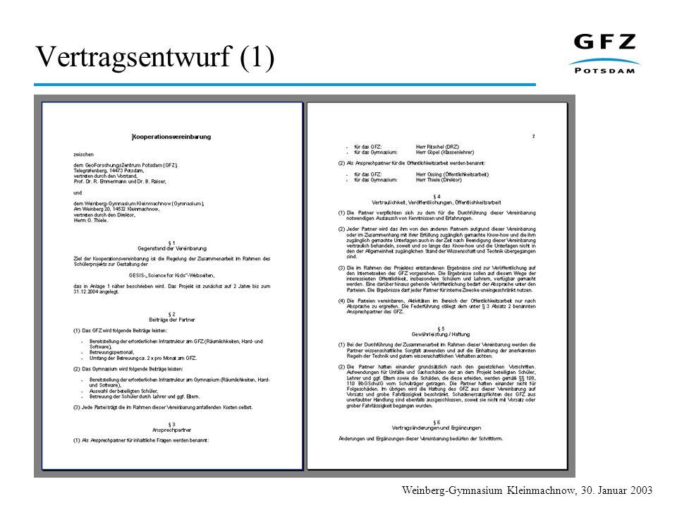Vertragsentwurf (1)
