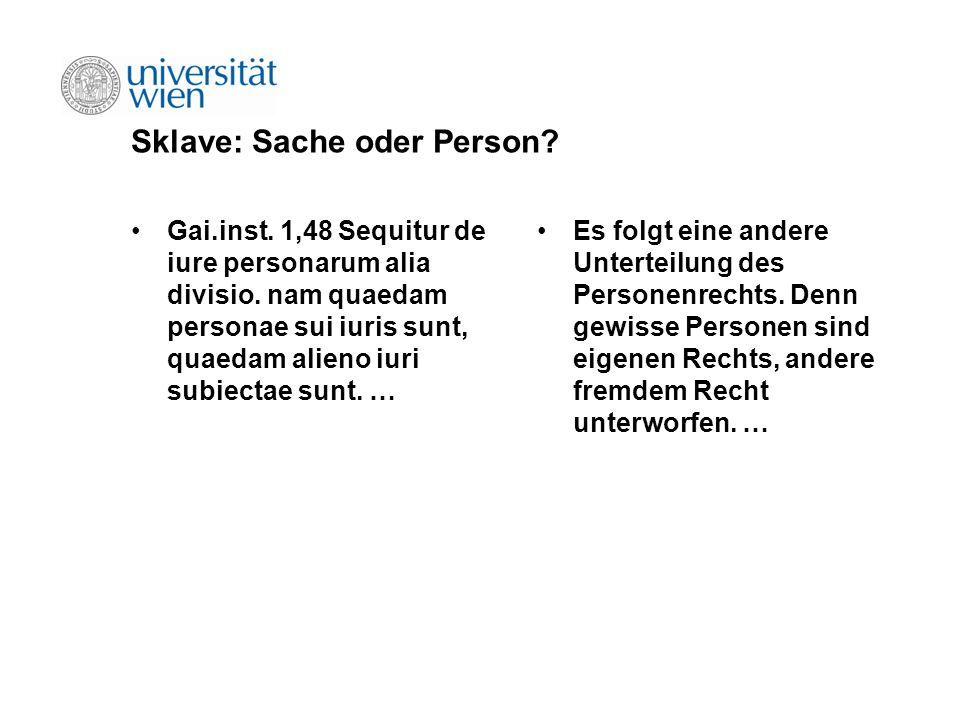 Sklave: Sache oder Person