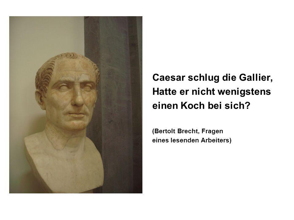Caesar schlug die Gallier, Hatte er nicht wenigstens