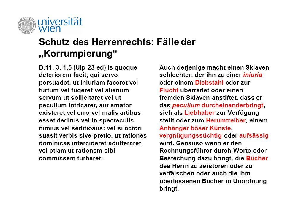"""Schutz des Herrenrechts: Fälle der """"Korrumpierung"""