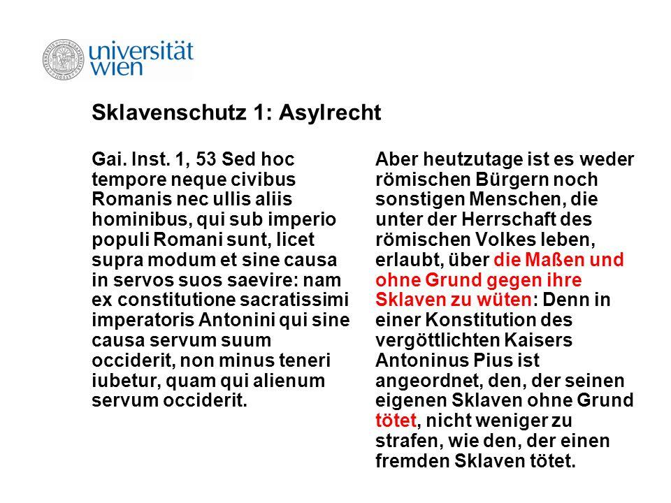 Sklavenschutz 1: Asylrecht