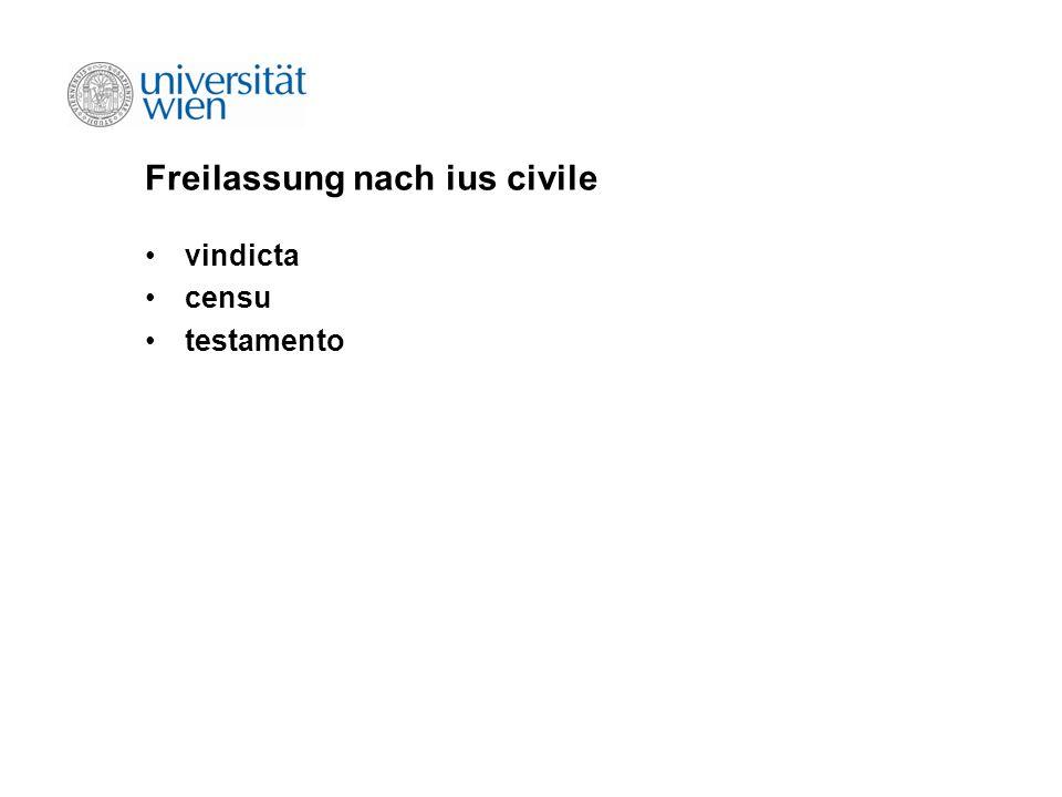 Freilassung nach ius civile