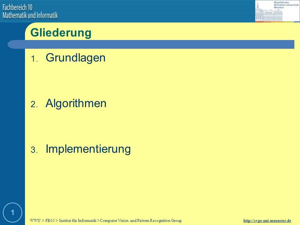 Gliederung Grundlagen Algorithmen Implementierung 1
