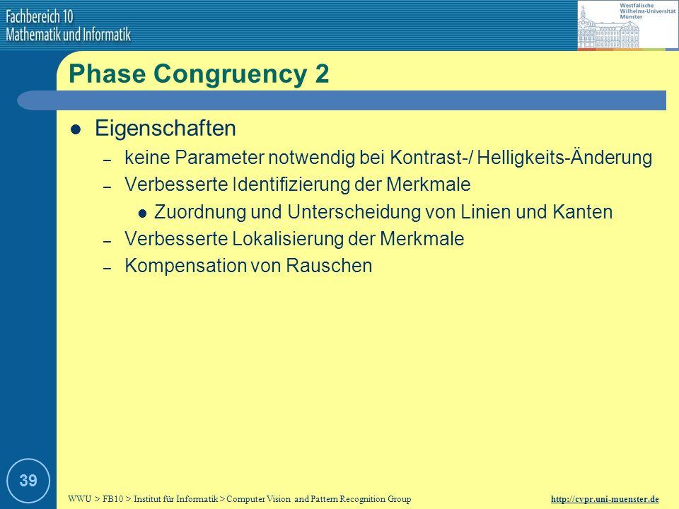 Phase Congruency 2 Eigenschaften