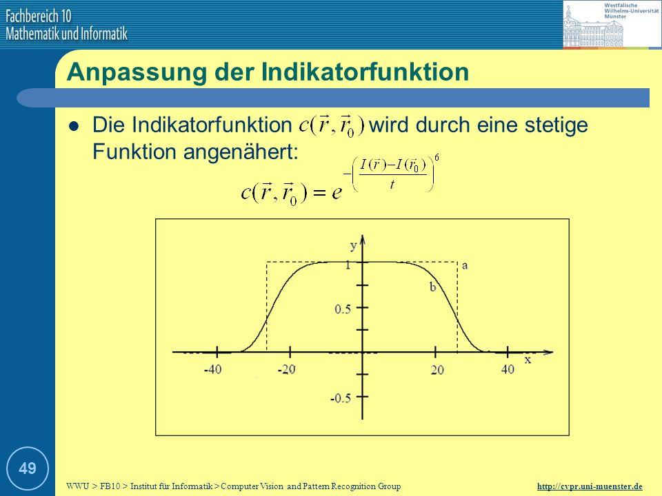 Anpassung der Indikatorfunktion