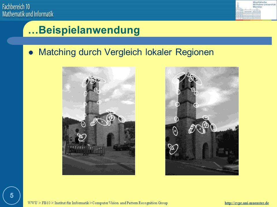…Beispielanwendung Matching durch Vergleich lokaler Regionen 5