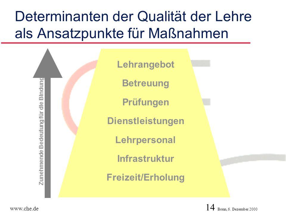 Determinanten der Qualität der Lehre als Ansatzpunkte für Maßnahmen