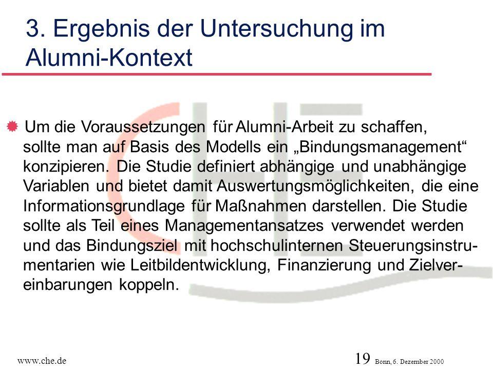 3. Ergebnis der Untersuchung im Alumni-Kontext