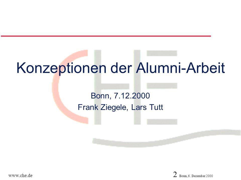 Konzeptionen der Alumni-Arbeit Bonn, 7. 12