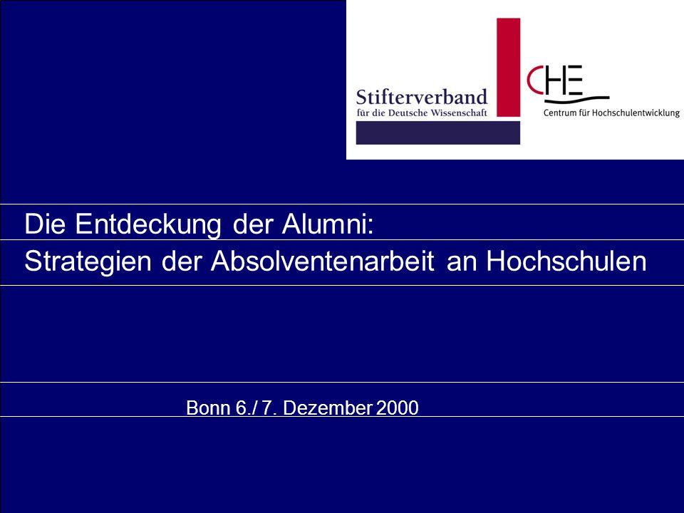 Die Entdeckung der Alumni: Strategien der Absolventenarbeit an Hochschulen