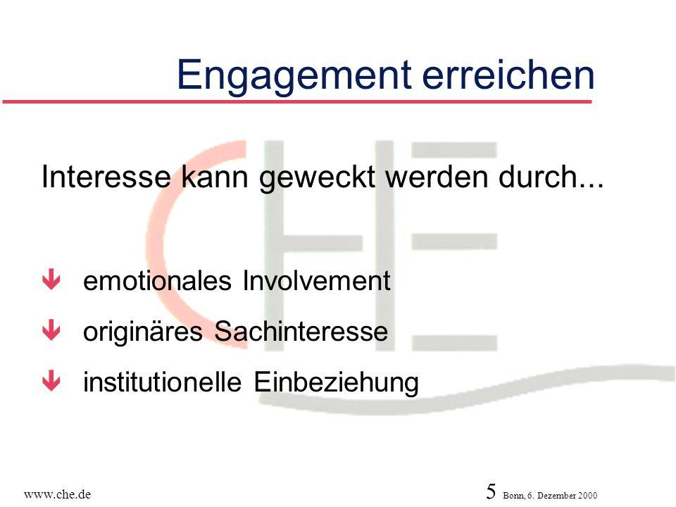 Engagement erreichen Interesse kann geweckt werden durch...