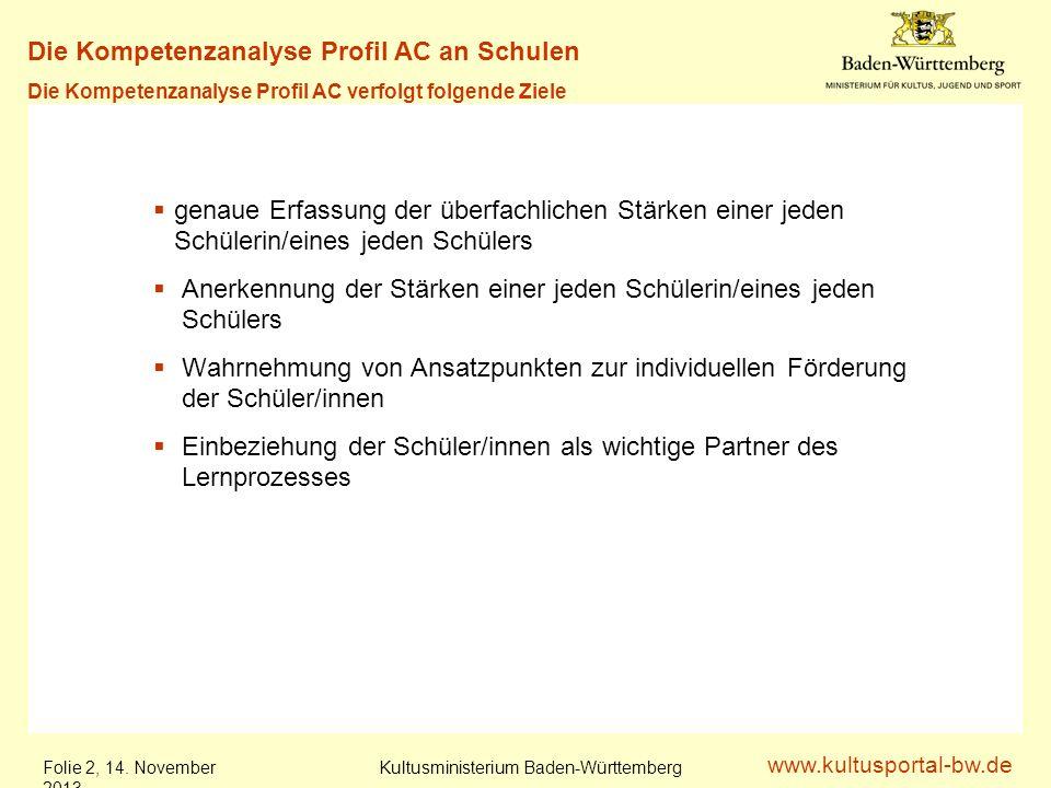 Die Kompetenzanalyse Profil AC an Schulen