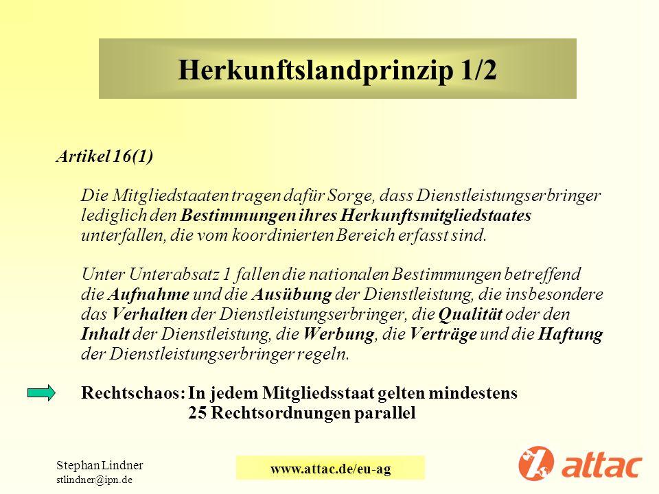 Herkunftslandprinzip 1/2