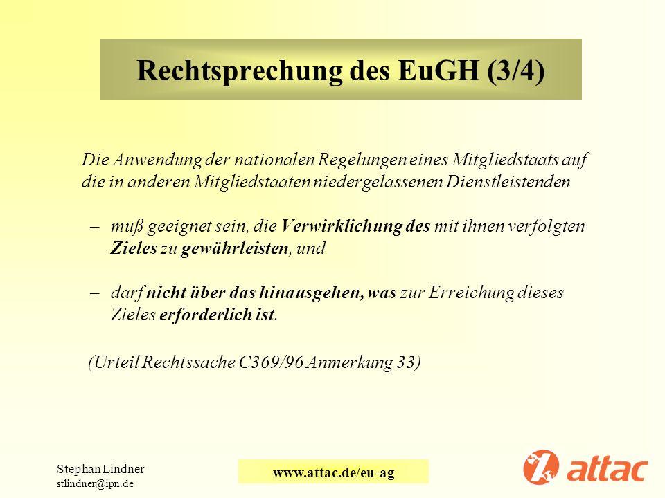 Rechtsprechung des EuGH (3/4)