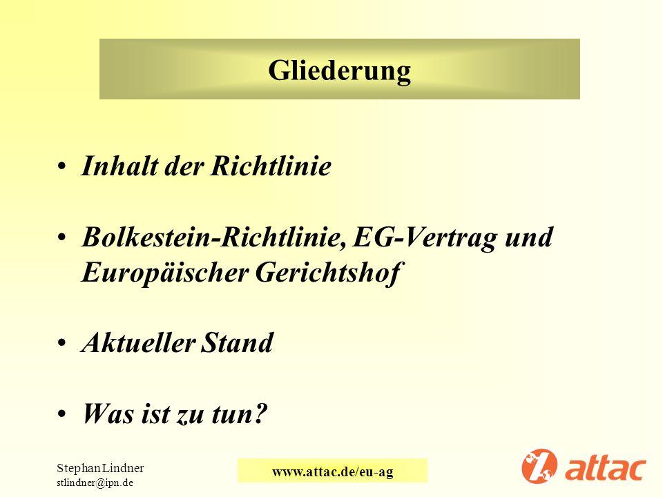 Bolkestein-Richtlinie, EG-Vertrag und Europäischer Gerichtshof