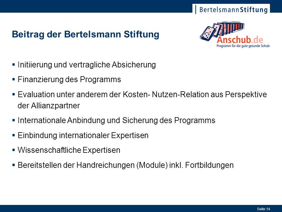 Beitrag der Bertelsmann Stiftung