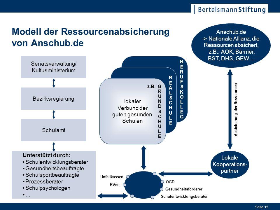 Modell der Ressourcenabsicherung von Anschub.de