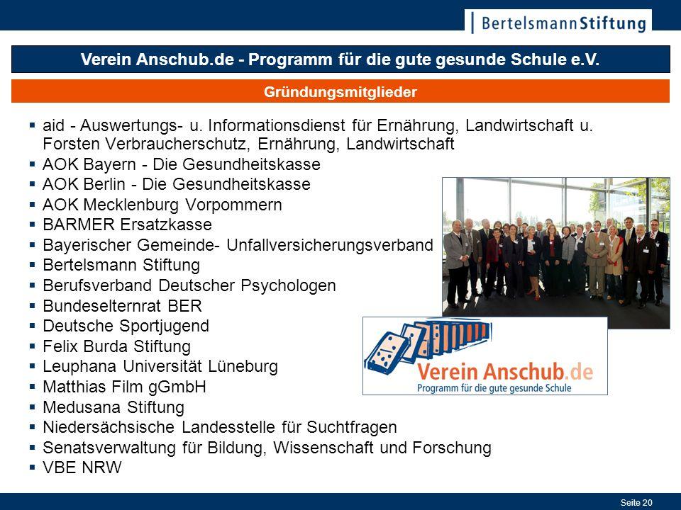 Verein Anschub.de - Programm für die gute gesunde Schule e.V.