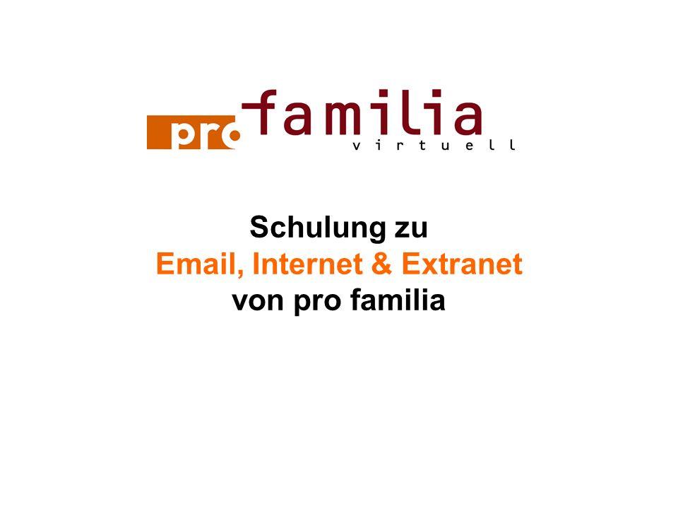 Schulung zu Email, Internet & Extranet von pro familia