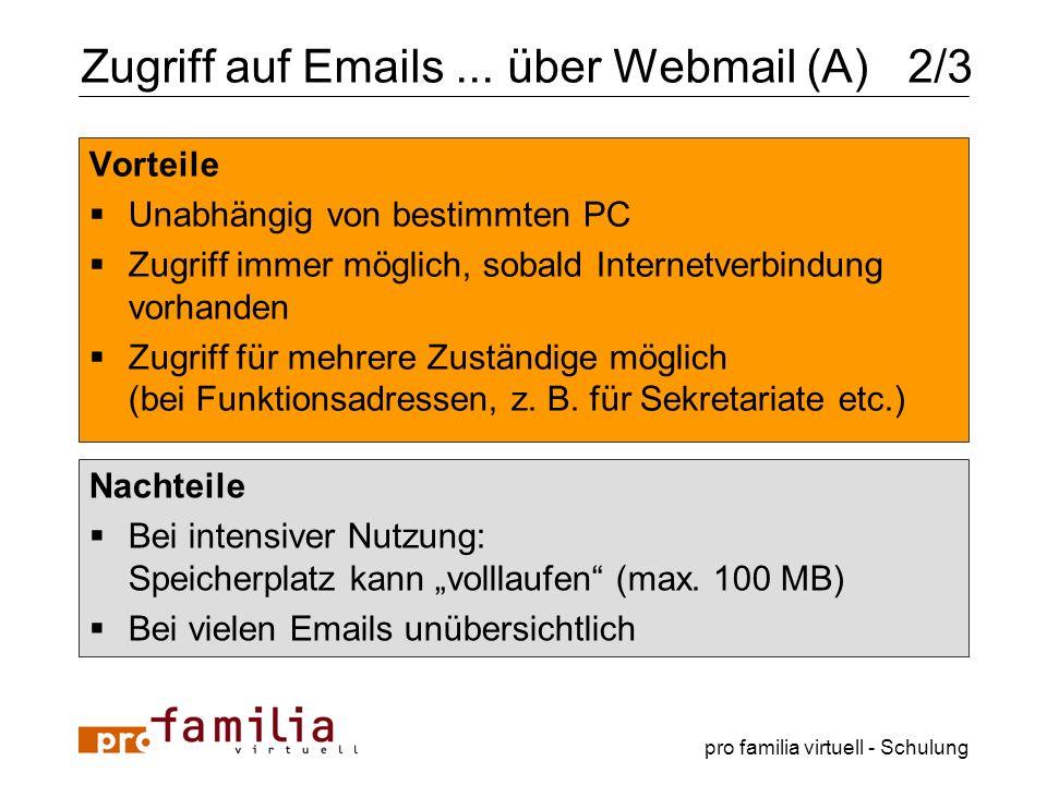 Zugriff auf Emails ... über Webmail (A) 2/3