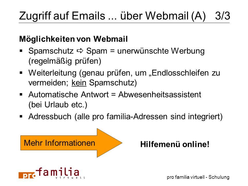 Zugriff auf Emails ... über Webmail (A) 3/3