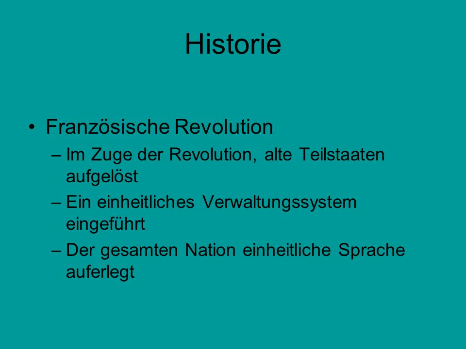 Historie Französische Revolution