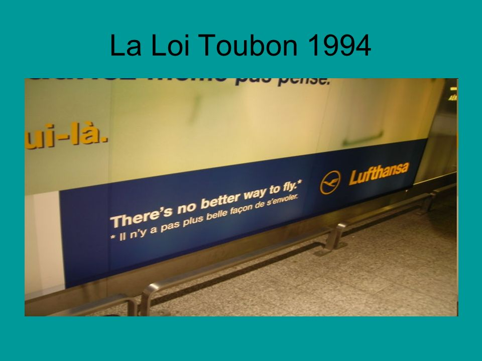 La Loi Toubon 1994