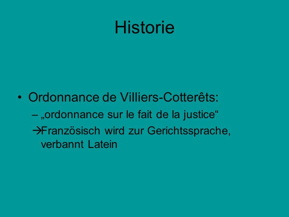 Historie Ordonnance de Villiers-Cotterêts: