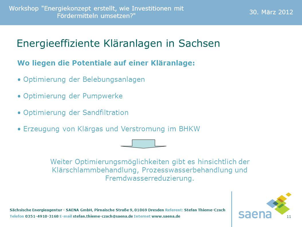 Energieeffiziente Kläranlagen in Sachsen