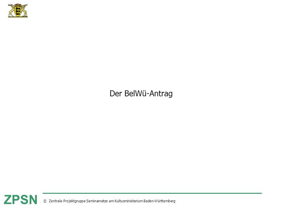 Der BelWü-Antrag
