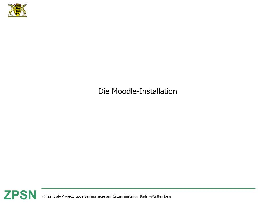 Die Moodle-Installation
