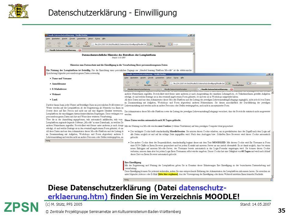 Datenschutzerklärung - Einwilligung