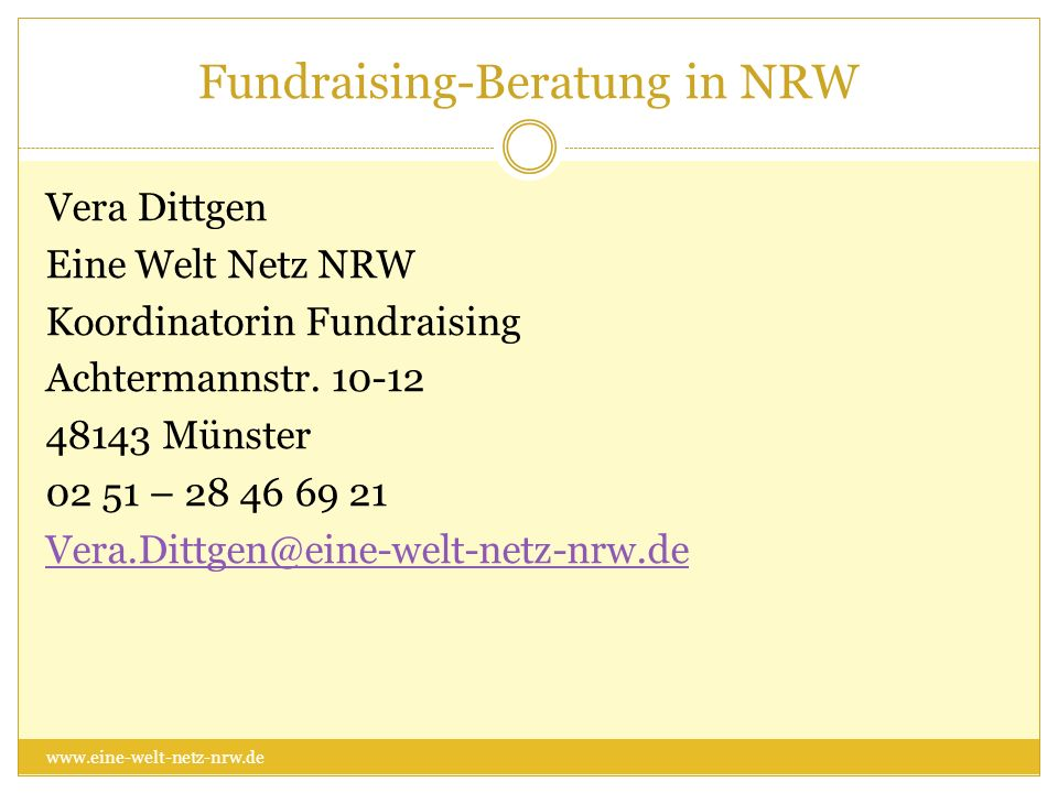 Fundraising-Beratung in NRW