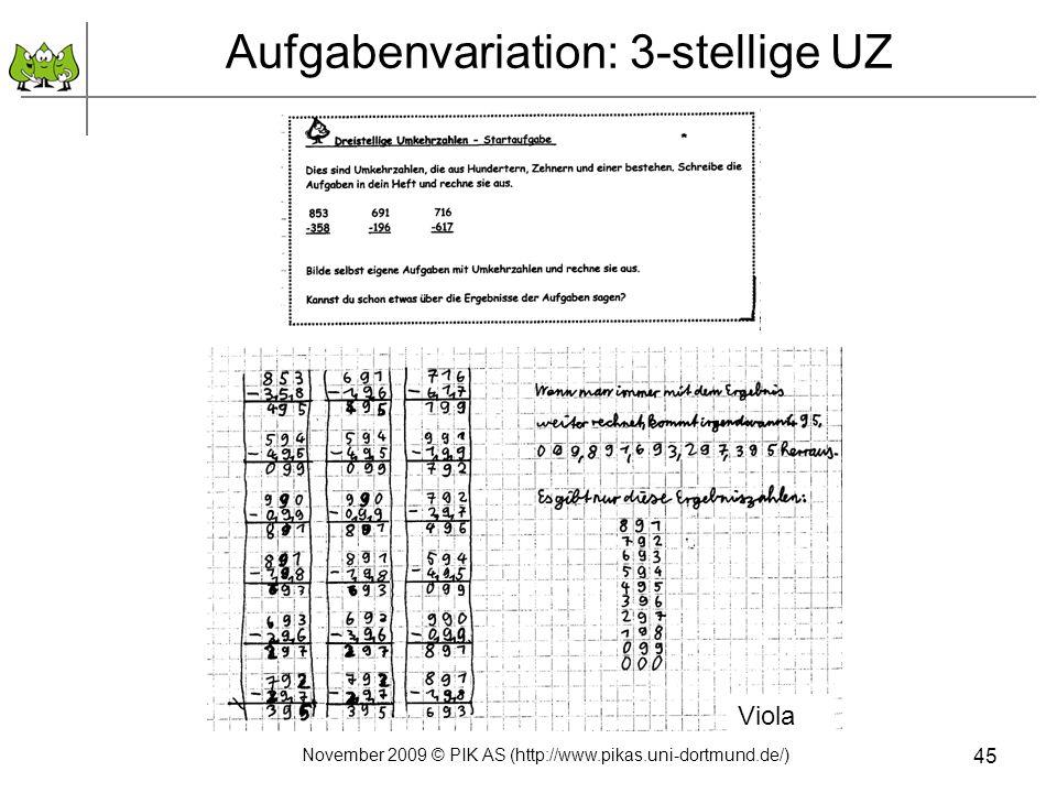 Aufgabenvariation: 3-stellige UZ