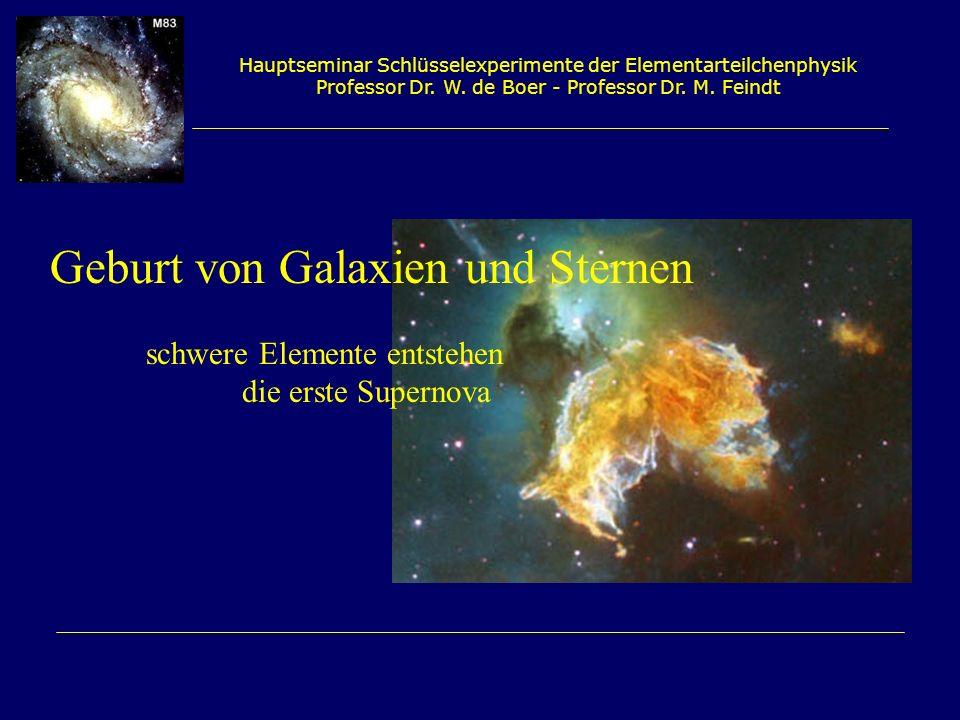 Geburt von Galaxien und Sternen